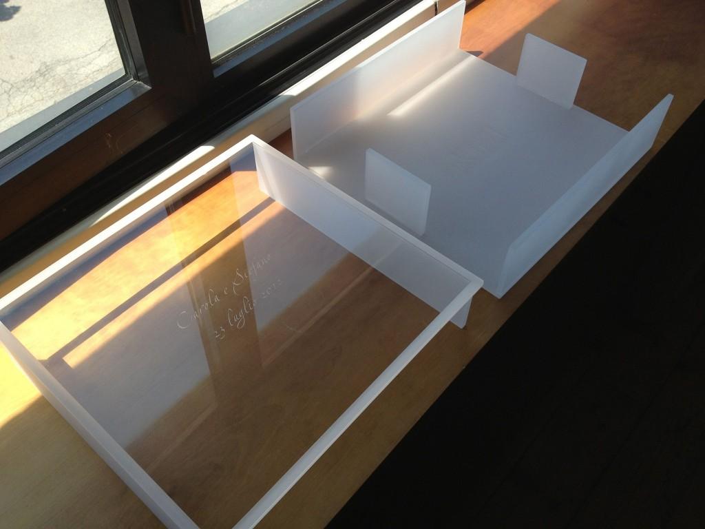 album nozze plexiglas trasparente/sabbiato